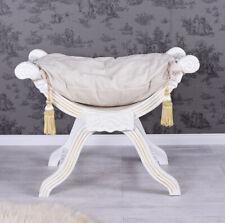 STOOL GONDOLE TABOURET SEAT LOUIS  STYLE ANTIQUE WHITE