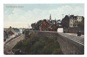 Vintage postcard Les Ramparts, Quebec, Canada. Valentine's. Unposted