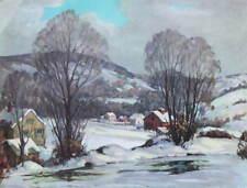 1950s Print Winter Steam by Jacob Greenleaf