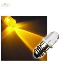 LED-Schraubsockel-Birne GELB 12V DC E-10 Lampe Leuchte