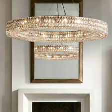 Spiridon Ring Chandelier Round Crystal Suspension Modern Lighting Pendant Lamp
