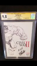 Civil War II #3Death of The Hulk (Bruce Banner) CGC 9.8 IMMORTAL HULK PRELUDE!!