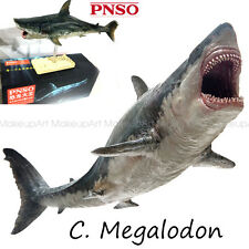 PNSO Megalodon prehistoric sharks Model toy scientific art Dinosaurs Figure