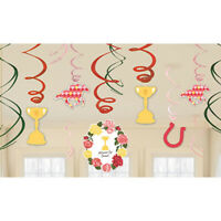 Party Supplies Spring Carnival Melbourne Cup Horse Racing Hanging Swirls