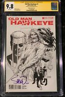 OLD MAN HAWKEYE 1 CGC SS 9.8 1:100 SIGNED STEVE MCNIVEN SKETCH VARIANT COVER B&W