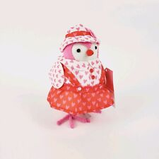 2019 Featherly Friends Sweetpea Fabric Bird Figurine Target Valentine's Day