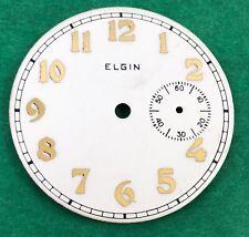 ART DECO ELGIN 12 Size 3' O clock SUB. SECONDS NOS DIAL Applied GP Arabic 1920