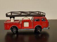 Majorette Pompier France 1/100 Diecast FDNY Fire Truck w/ Ladder #207 Vintage