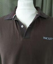 "Hackett 100% Cotton Brown UK Map Polo Shirt - L C40"""