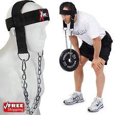 VELO Cou Harnais Tête Poids Lifting Gym Exercice Muscle Builder Ceinture Chaîne