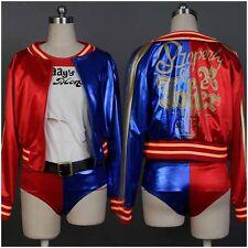 DC Batman Cosplay Kostüm Suicide Squad Harley Quinn Jacke Coat Fasching Karneval