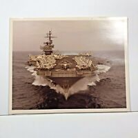Vintage 8x10 Photo USS John F Kennedy Aircraft Carrier Kodak Paper Color Photo