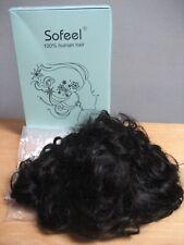 NEW Sofeel 100% Human Hair Wig Black 10 Inch Curly