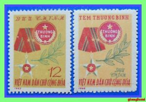 North Vietnam Military medal and invalid's badge (1963,1966 ) MNH NGAI