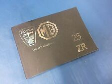 Rover 25 // MG ZR Owners Handbook