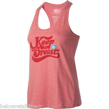 KEEP A BREAST WOMEN'S SWELL TANK TOP SIZE (S) SMALL HEATHER RED NEW WITH TAGS