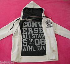 ~Converse ALL STAR HOODED JACKET Track Fleece Vintage Hoody sweat shirt~Men sz S