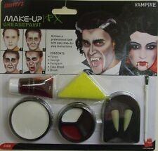 Vestito Per Halloween Vampiro Compongono Vernice Viso Set Sangue & Zanne