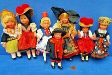 KONVOLUT ALTE PUPPEN BABY DOLL VINTAGE PUPPENHAUS PUPPENSTUBE TRACHTEN B