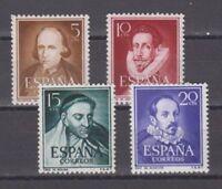 ESPAÑA (1950) MNH NUEVO SIN FIJASELLOS SPAIN - EDIFIL 1071/74 LITERATOS