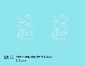 K4 Z Decals Pere Marquette 50 Ft Auto Boxcar White