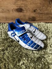 Nike Air Zoom Total 90 ii FG Blue/white Football Boots Size Uk 5 EUR 38