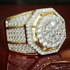 2.50 Ct 14k Yellow Gold Mens Round Diamond Wedding Engagement Pinky Ring Band