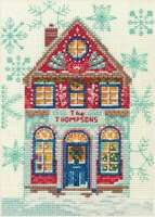 "Dimensions Counted Cross Stitch Kit 5""X7"" Holiday Home (14 Count) 088677089887"