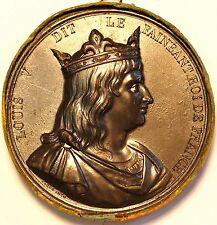 France Medal. Roi de France. Louis V dit le Faineant 967-986 . Fils de Lothaire