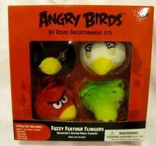 "Angry Birds & Friends 4pc 2"" Angry Birds Fuzzy Feather Fingers Pencil Toppers"