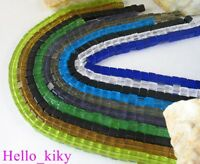 10 strands Mixed colour cube Glass bead M2471