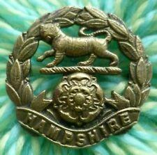 Hampshire Regiment Cap Badge Bi-Metal 2 part Join All BRASS 2 Lugs 40 mm ANTIQUE