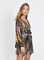 MISS SELFRIDGE PETITE Ombre Sequin Dress, SZ 4 , RRP £89