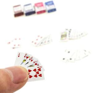 1Set 1:6/1:12 Dollhouse Miniaturen Zubehör Spielkarten Poker Home Bar DekoODYU