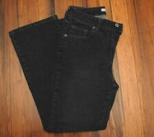 Chico's slim,stretch jeans pants acid washed black, 5-pockets, Size 0 Short