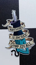 ¡Chop em All! sticker by ¡DANGER SIGN! hot rod VW custom dub tattoo sawzall