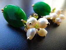 Ovale Echtschmuck mit Smaragd Ohrschmuck für Damen