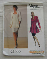 Vintage Tunic Skirt Sewing Pattern*Vogue 2248*Size 6-10*UNCUT/FF*1989*flared