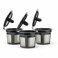 3 PACK Refillable Reusable K-Cup Coffee Filter Pods for Keurig 2.0 & 1.0