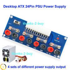 Desktop ATX 24 Pin to 3.3V 5V +12V -12V PSU Power Supply Adaptor Expansion Board