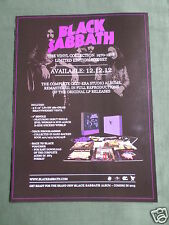 BLACK SABBATH - MAGAZINE CLIPPING / CUTTING- 1 PAGE ADVERT