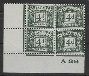 GREAT BRITAIN -  EDWARD VIII Postage Dues: 1936 4d grey-green A36 (I - 19354