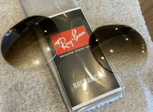 New AUTH Ray-Ban RB3565 JACK (Real Glas)s Gradient Brown Replacement lenses 53mm