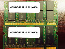 8GB (2x 4GB) PC2-6400 LAPTOP MEMORY DDR2-800 800Mhz RAM 200pn 4 DELL HP LENOVO