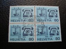 SUISSE - timbre yvert/tellier n° 1002 x4 oblitere (A12)