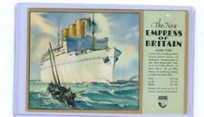 Canadian Pacific New Empress of Britain pre-launch unused  postcard 1931