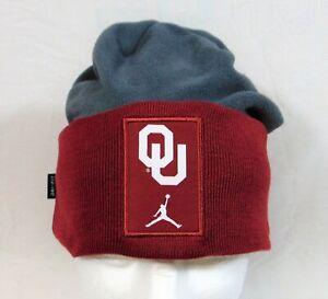 Air Jordan Oklahoma University Grey/Red Football Beanie Adult Unisex OSFA RARE