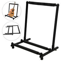 3 Way Multi Guitar Stand Foldable Acoustic Electric Electric Bass Guitar Rack UK