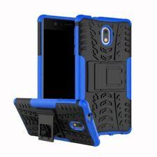 Etui Hybride 2 PIÈCES EXTÉRIEUR BLEU housse étui pour Nokia 2 étui de protection