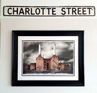 ❤ Vintage 1930/40s Aluminum UK (London) Road Sign Charlotte Street Name Plate👌